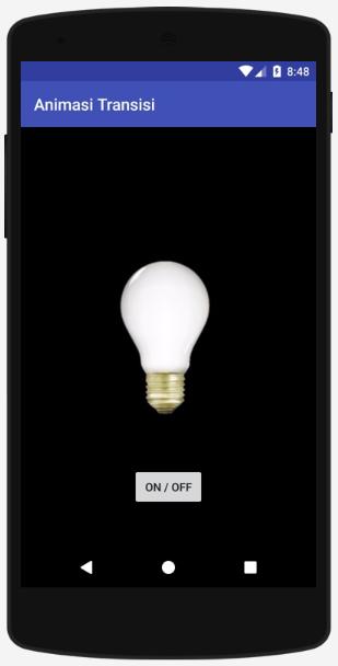 Cara Mudah Membuat Animasi Transisi (on/off lampu) pada Android Studio
