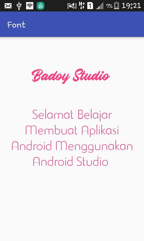 Custom Font pada Android Studio Dengan Mudah