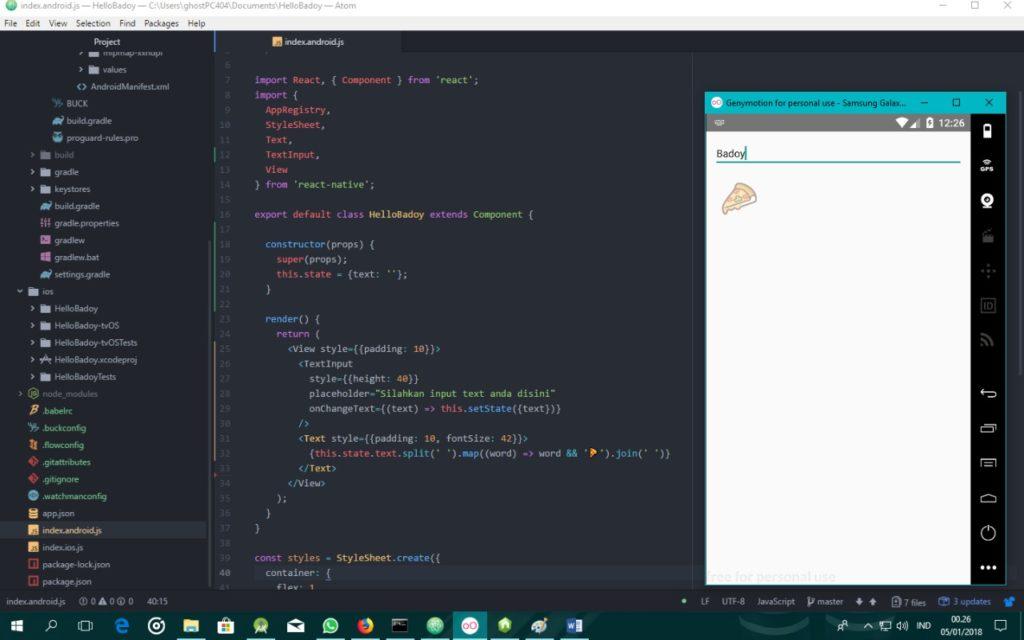 Handling Text Input pada React Native