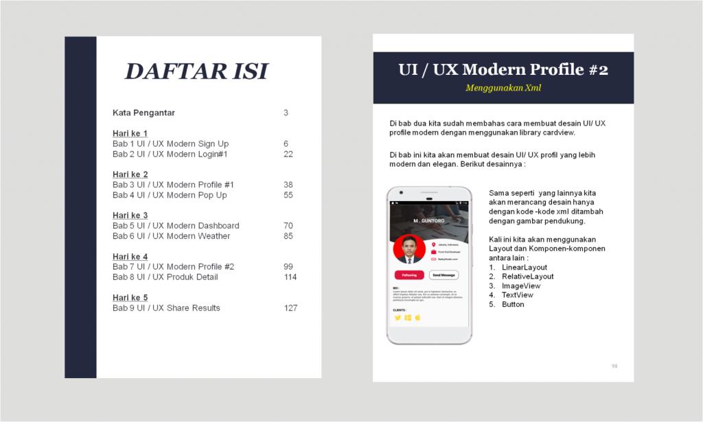 Ebook Android studio desain ui ux