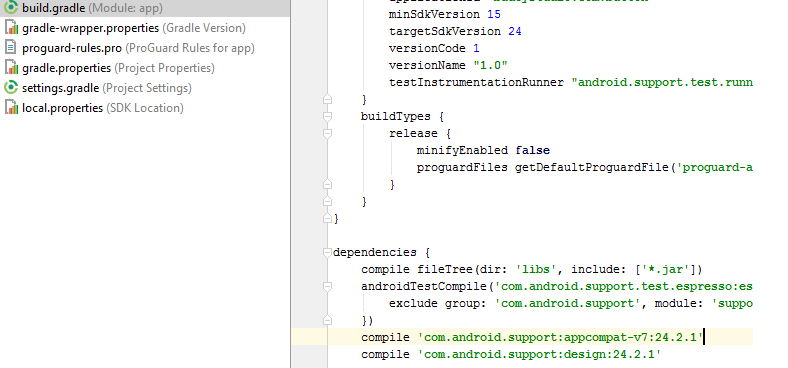 button style android studio