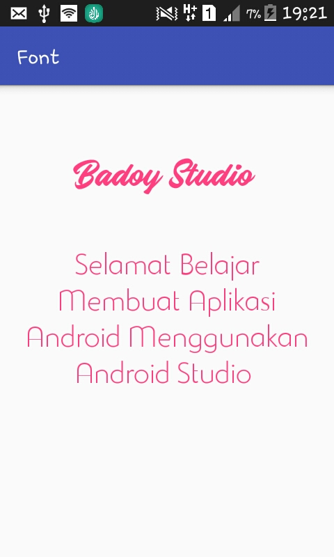Custom Font pada Android Studio