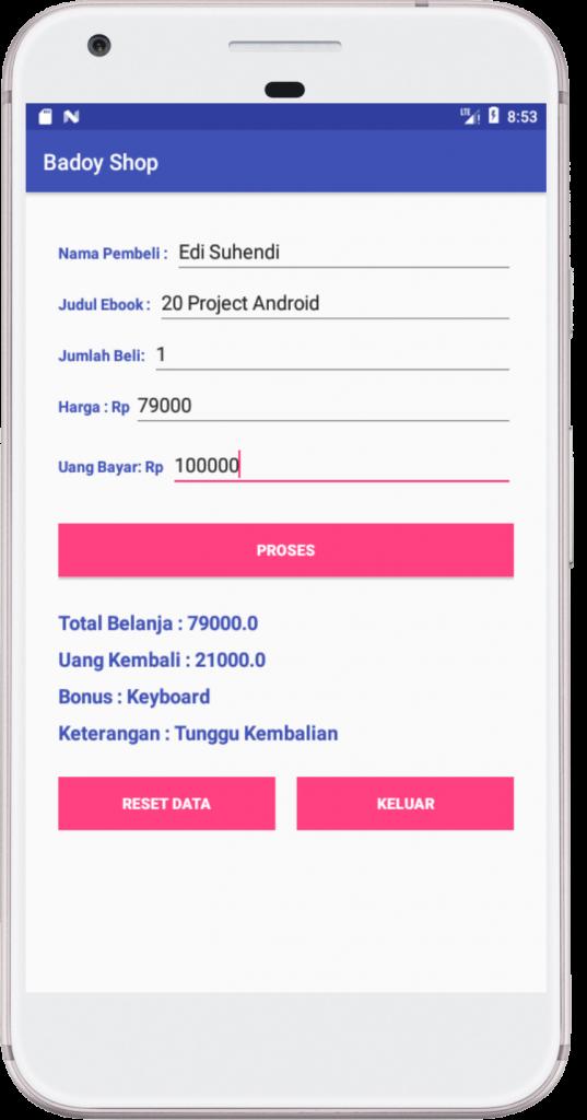 Membuat aplikasi penjualan menggunakan adroid studio