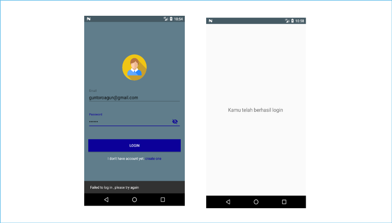 membuat login android dengan sqlite database