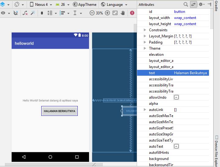 membuat aplikasi dengan android studio