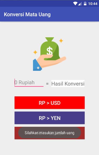 Cara Membuat Aplikasi Konversi Uang