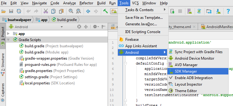 cara menginstall SDK android studio
