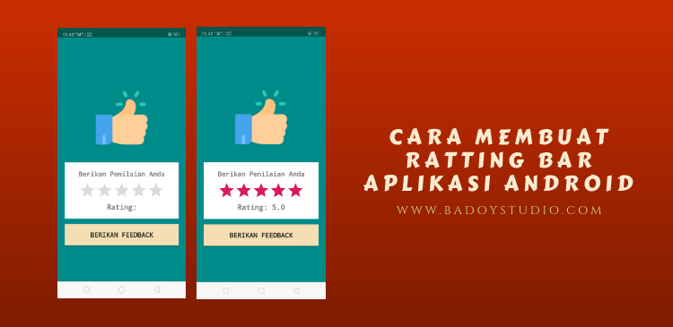 cara membuat rating bar pada android studio
