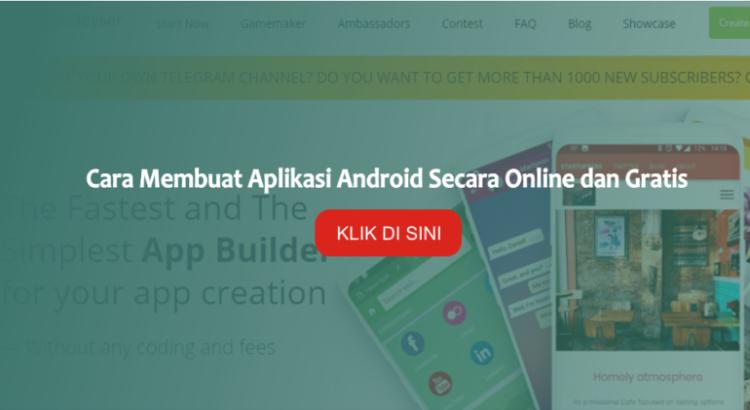 cara membuat aplikasi android secara online