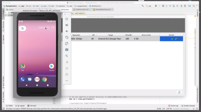 Emulator android studio