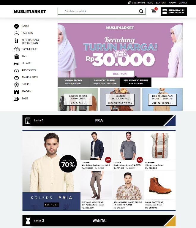 contoh website toko online