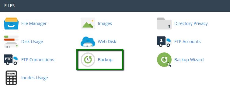 fitur cpanel untuk backup data