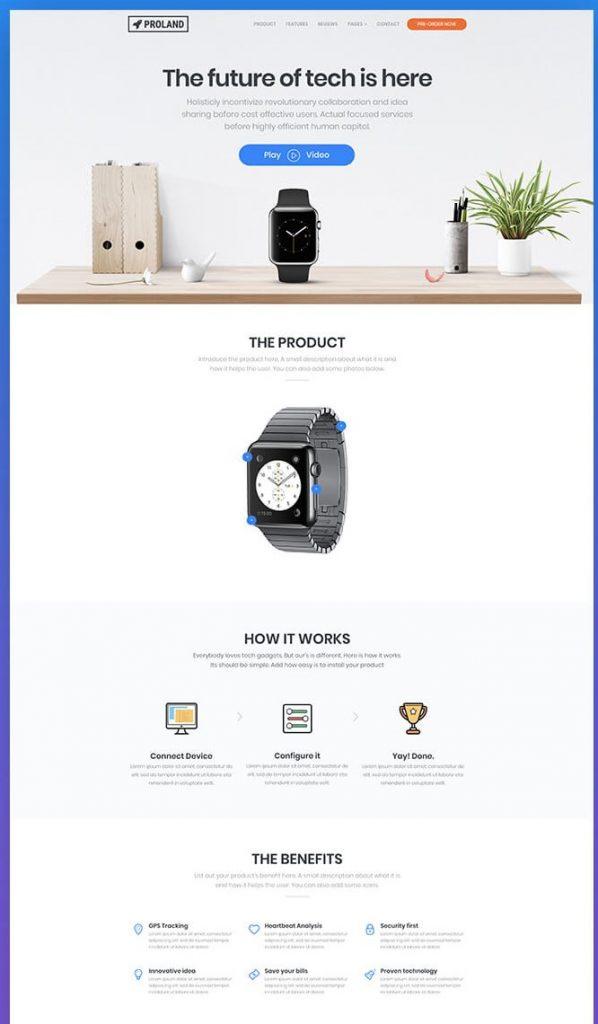landing page untuk menjual suatu produk
